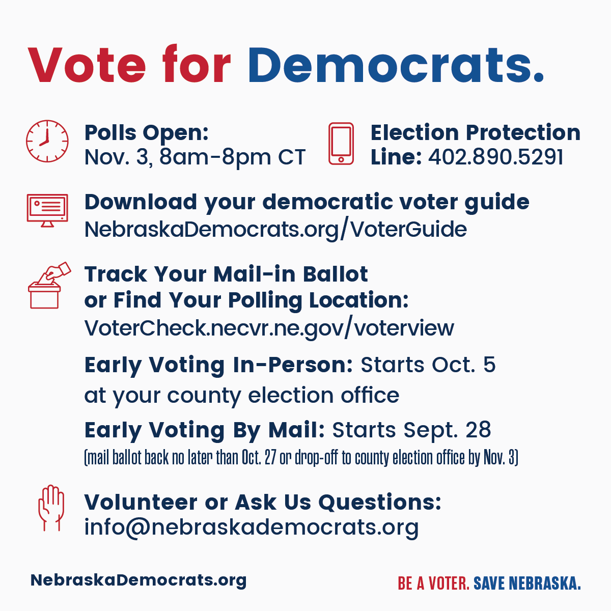 Vote for Democrats